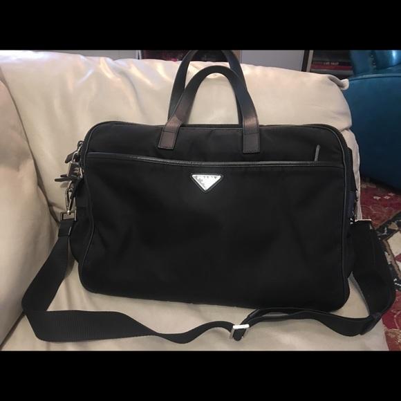 Prada Bags   Nylon Laptop Bag Excellent Condition   Poshmark 78a9e83301